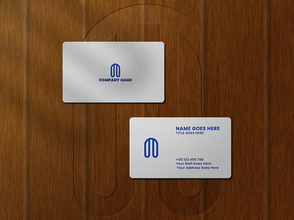 BUSINESS CARD LOGO MOCKUP PSD