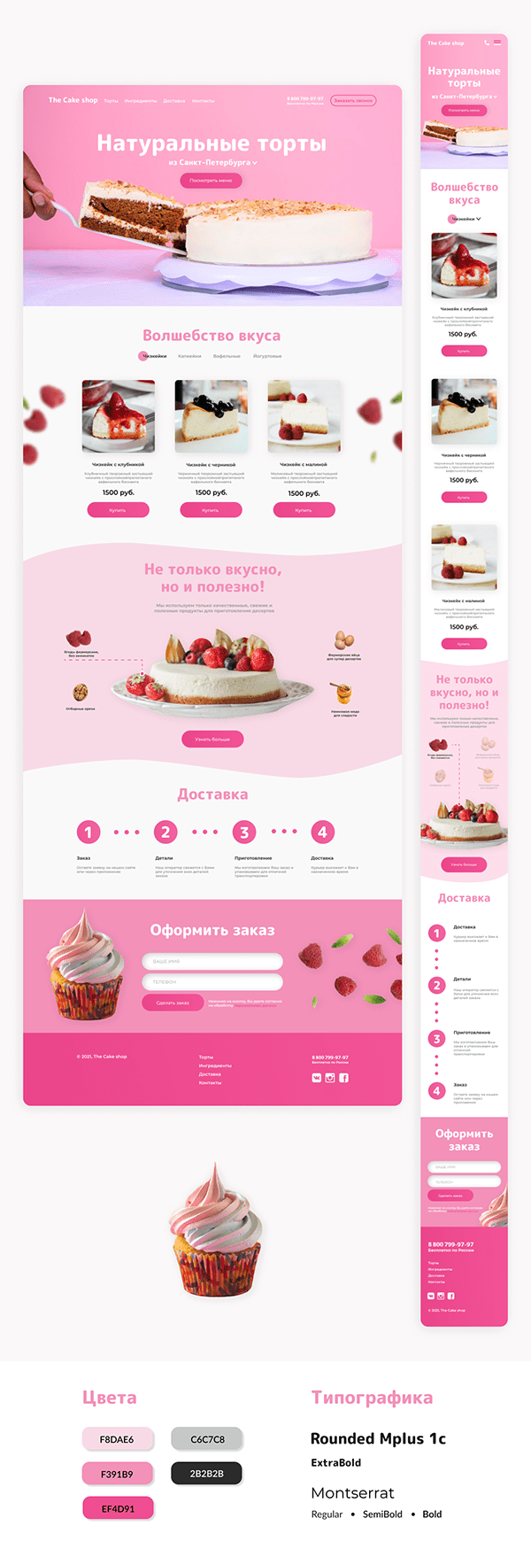 Landing page   The Cake shop
