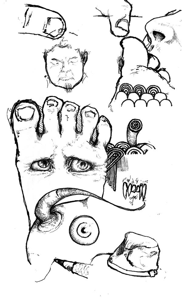 sketch doodle sketching pen ink penandink