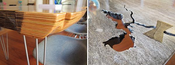 Plywood slab table on behance
