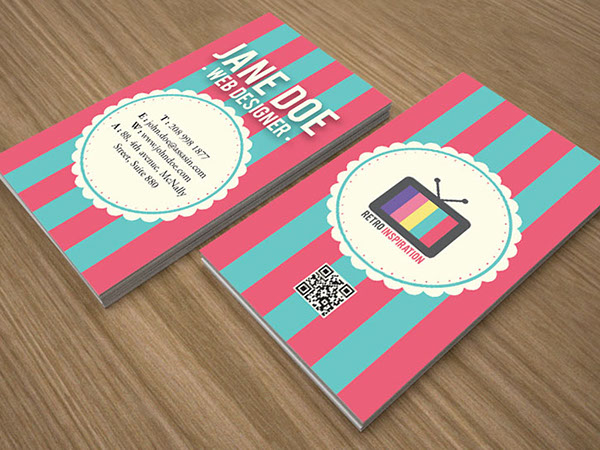 Retro inspiration business card design on behance reheart Images