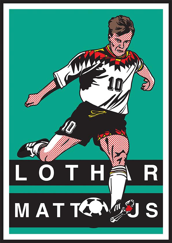 football Pop Art bergkamp puskas Real Madrid Zidane lichtenstein Del Piero Juventus soccer roy lichtenstein Bayern matthaus pele
