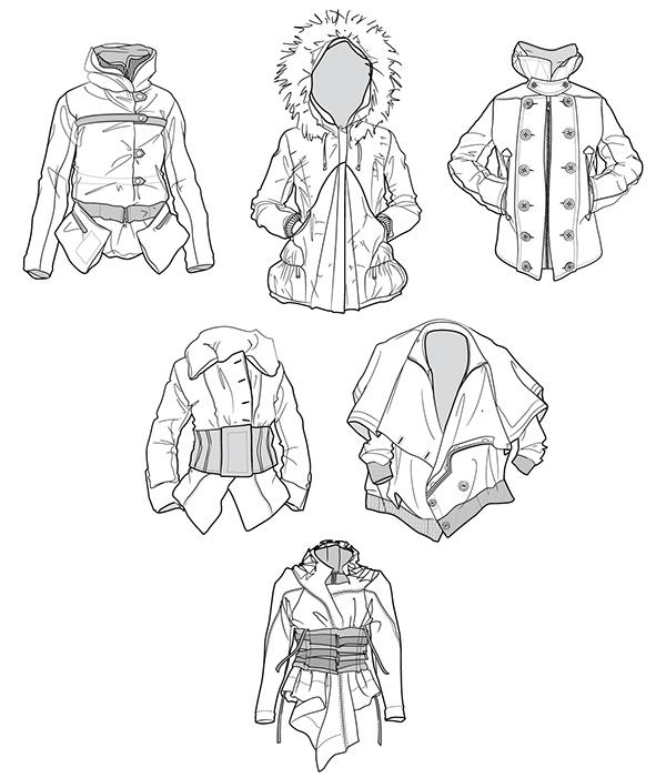 apparel Illustrator clothes canvas fabric casual vest jacket