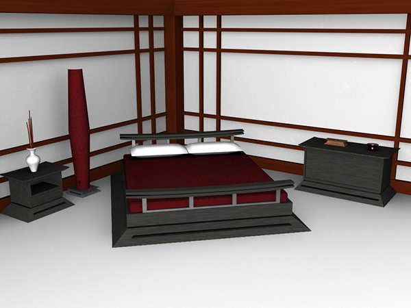 3d furniture design asian collection on behance