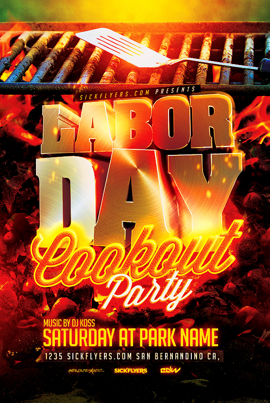 Labor Day Cookout Flyer Template PSD On Behance