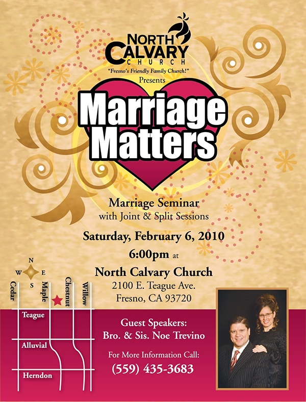 marriage seminar flyer on behance
