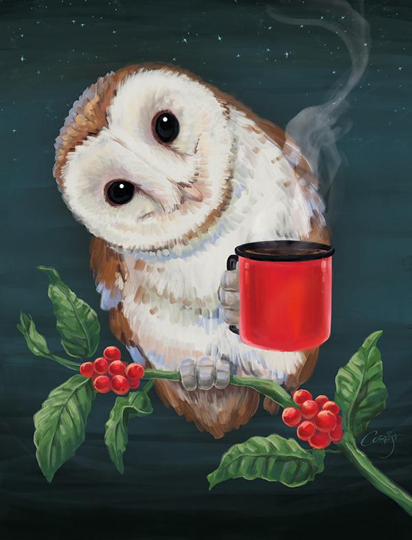 OWL COFFEE- Barn Owl
