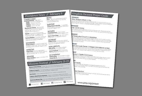 Weekly Church Bulletin Layout On Behance