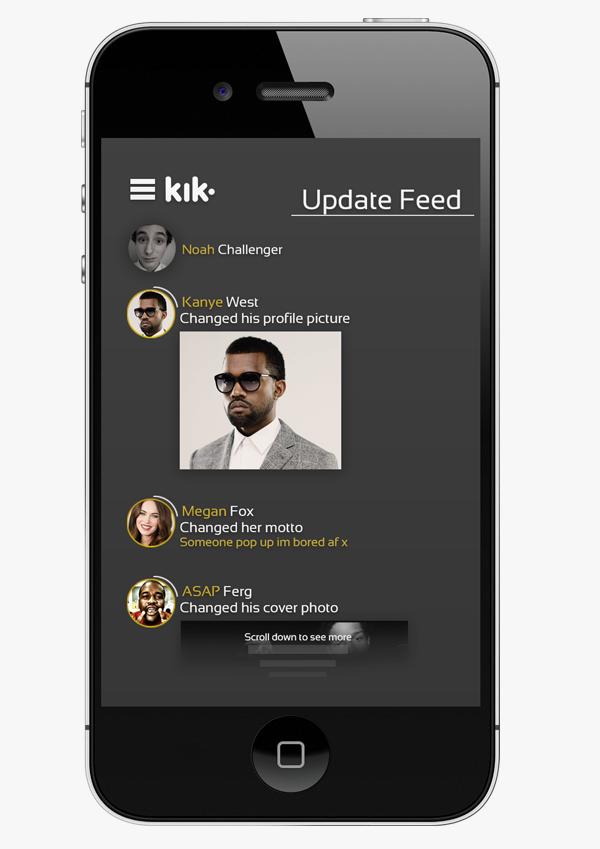 Kik Messenger App Redesign