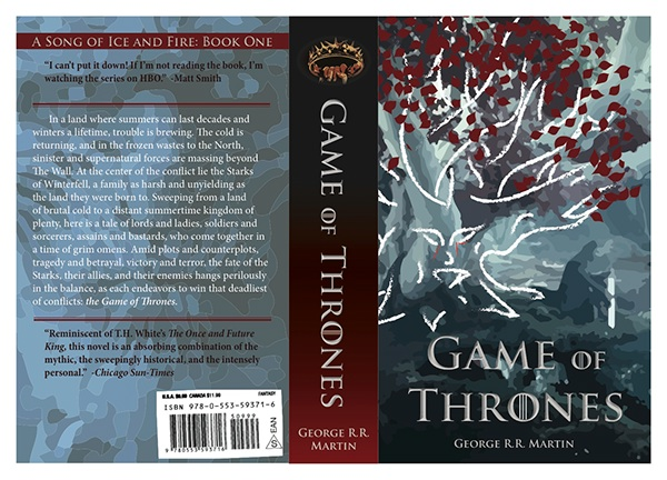 Book Cover Series Games ~ Game of thrones book cover on behance