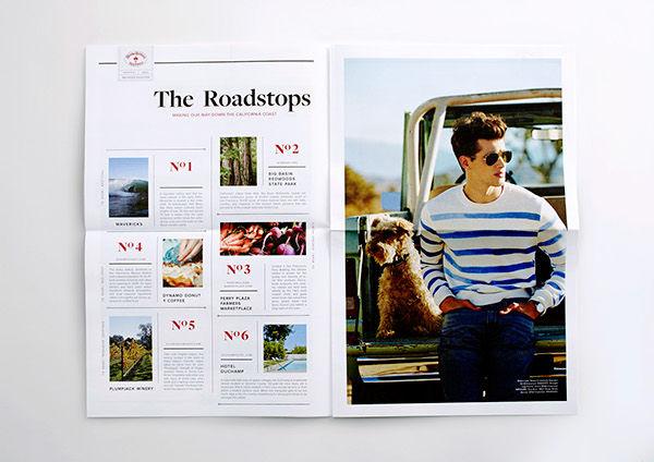 Brooks Brothers Red Fleece Red Fleece Newspaper newspaper print collateral fashion layout editorial Menswear FALL 2014