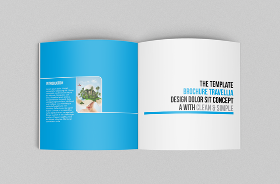 Square Travellia Brochure Template On Behance