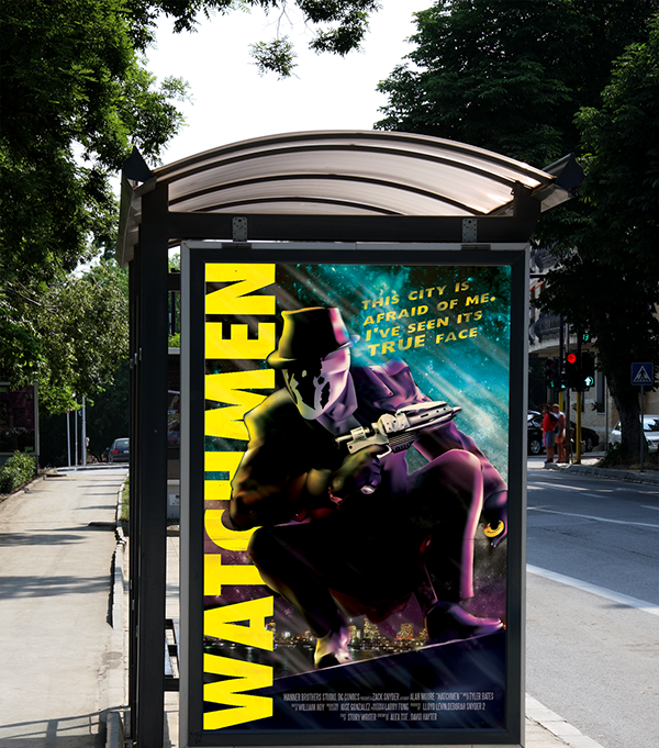 watchmen rorschach poster on behance