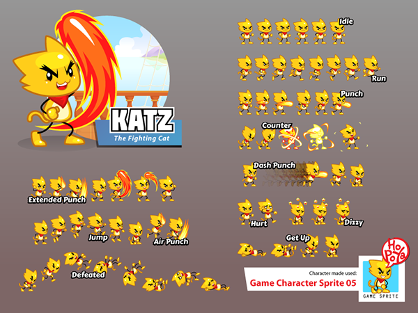 2d Character Design Software Free Download : Game character sprite on behance