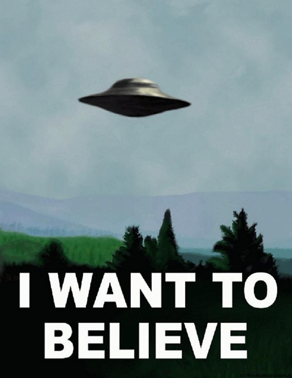 Commissioned To Create A Parody Poster Based Off Of The I WANT TO BELIEVE Found In Mulders Office X Files Directive Was Incorporate