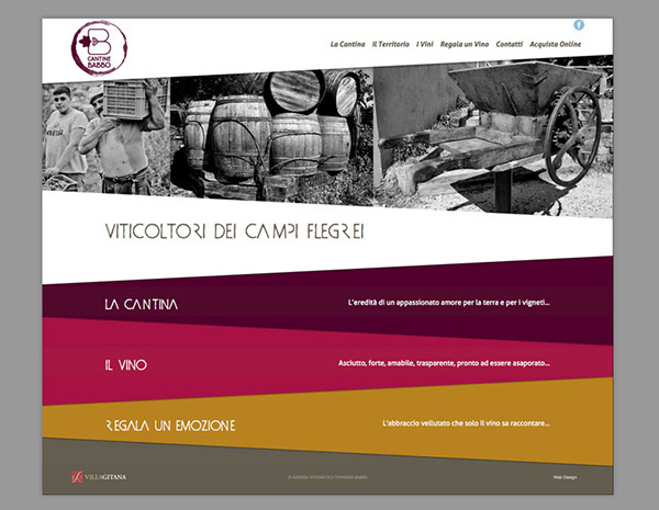 Responsive Design Website wine producer wine