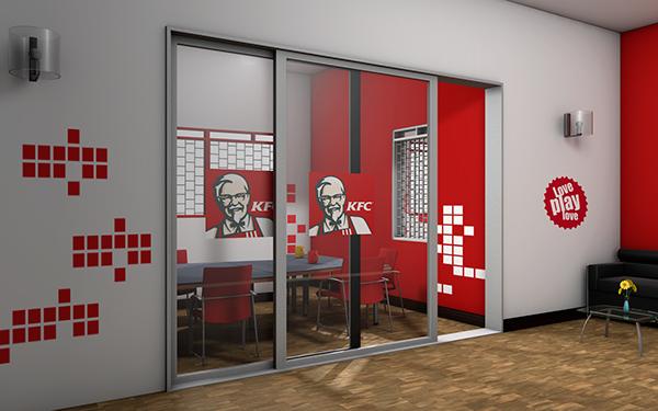 Kfc uganda office branding on behance for Office branding ideas