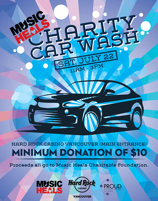 charity car wash poster on behance