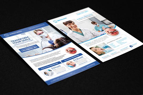 healthcare medical dental flyer poster template on behance
