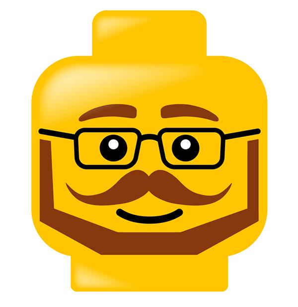 Lego heads on Behance