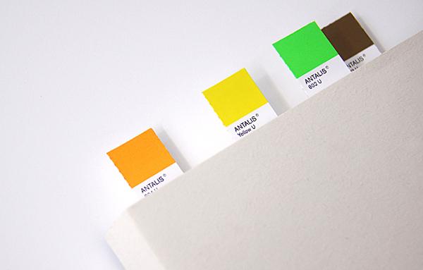 Antalis paper product design Stationery pantone notebook ruler CMYK mouse pad folder Fun interesting