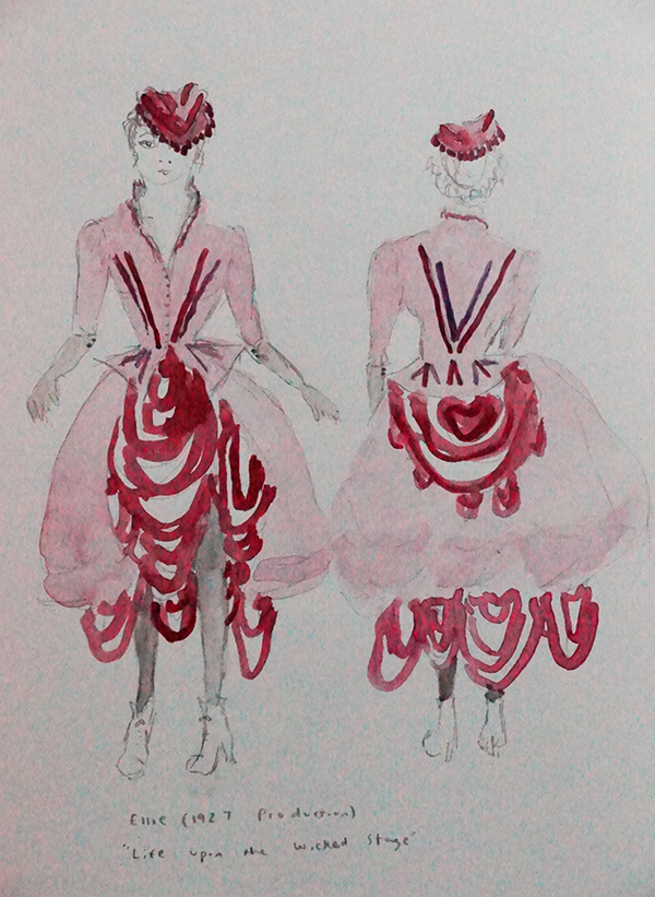 Show boat costume design sketch