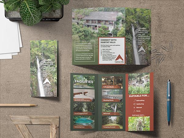 Habitat Hills' brochure or flyer design describing what Habitat Hills is and its features