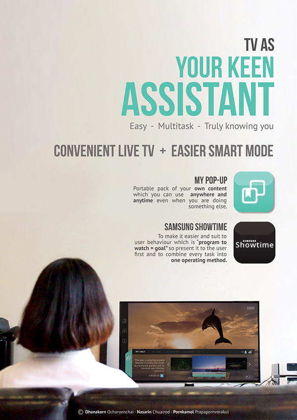 YOUR KEEN ASSISTANT : Samsung Smart TV Interface on Student Show