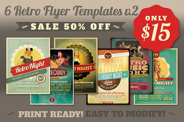 Retro Flyer Templates V On Behance