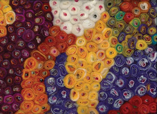 felt fabric textile plastics