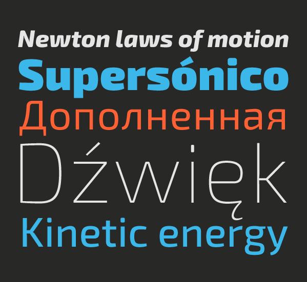 font Typeface type sans serif contemporary technological exo Cyrillic multilingual free