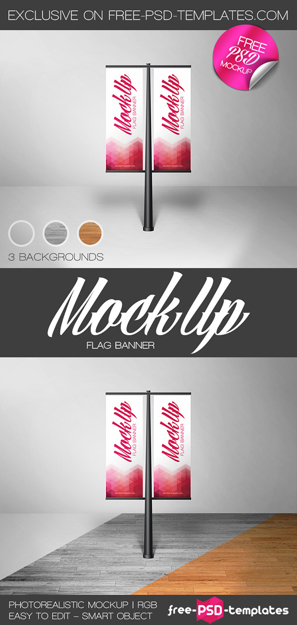 Free Flag Banner Mock Up In Psd On Behance