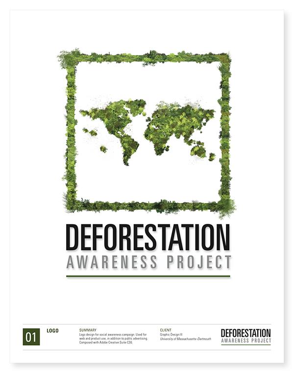 deforestation awareness project on behance
