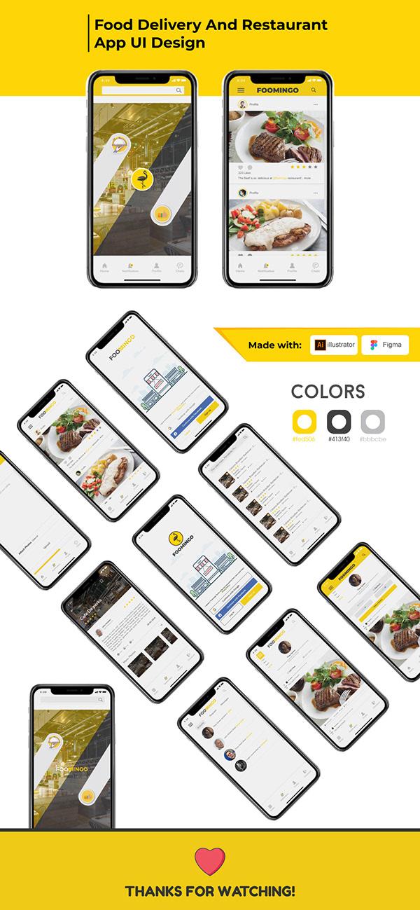 Food Delivery App UI Design.