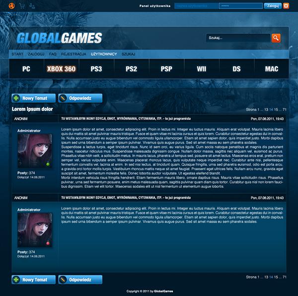 Webdesign Games fantasy
