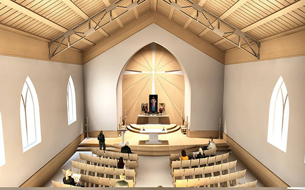 Catholic church on behance for Church interior design ideas