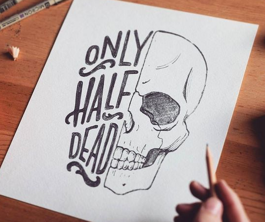 Only Half Dead Poster On Behance