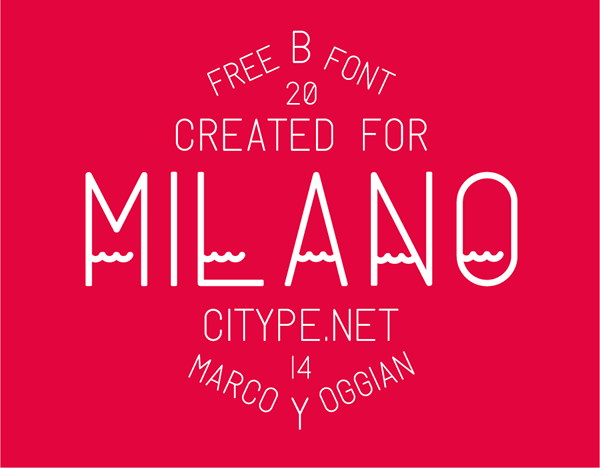milano typeface fonts free display logo brochure poster business card helvetica typography