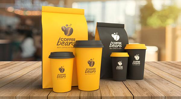 Logo and packaging design | Coffee packaging mockups