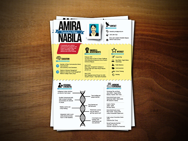 Curriculum Vitae Design Mia Nabila On Behance