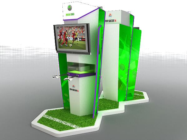 Corner Exhibition Stands Xbox : Fifa xbox on behance
