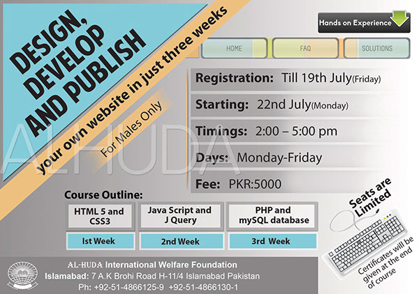 Flyer For Web Design Course On Behance