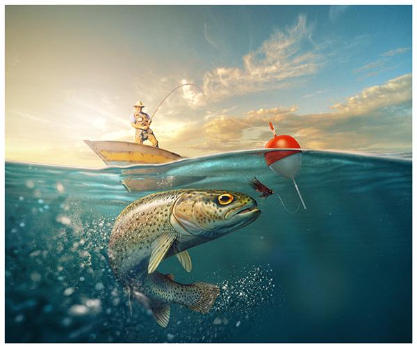 картинки рыбалка арт