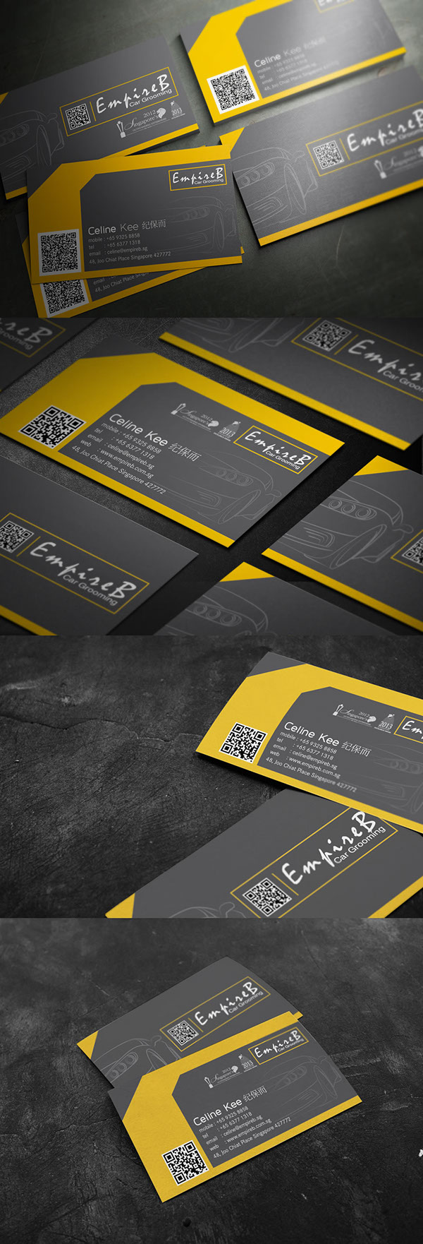 EmpireB car Grooming business card design on Behance