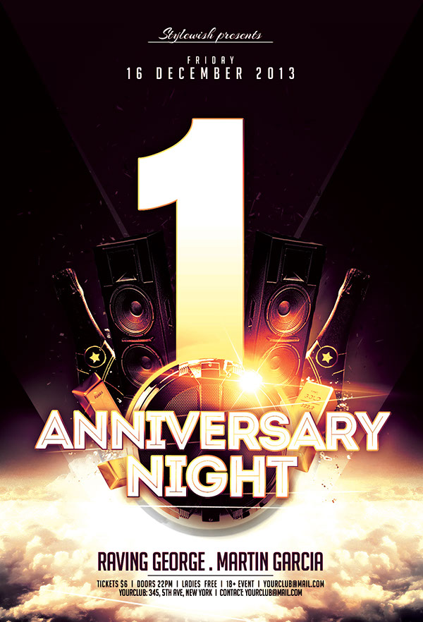 Anniversary Night Flyer On Behance