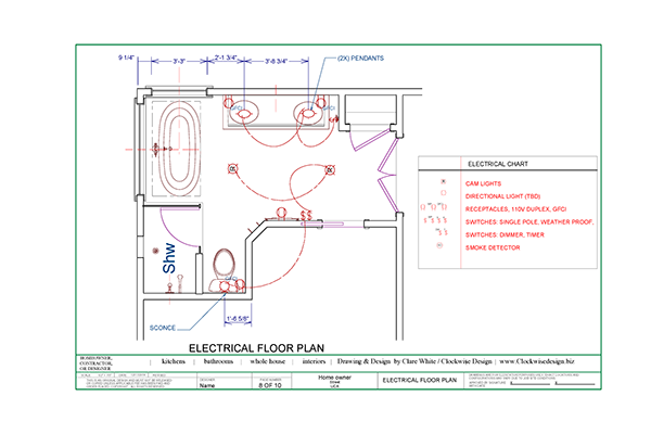 Bathroom Remodel Permits : Bathroom drawings for construction bids or permits on behance