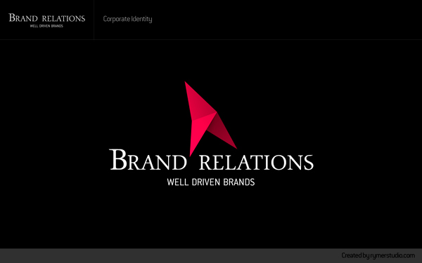 Rymer Studio Rymer 2011 Web triangle Brand Relations logo Logotype graphic 3d form cherry red simple shape