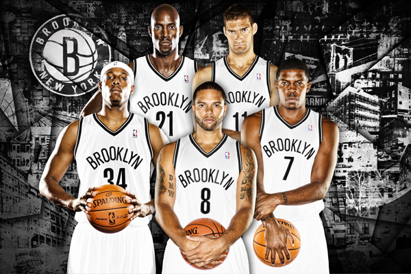 Say Hello To The New Starting Lineup For Brooklyn Nets Does Deron Williams Joe Johnson Paul Pierce Kevin Garnett And Brook Lopez All Have What It
