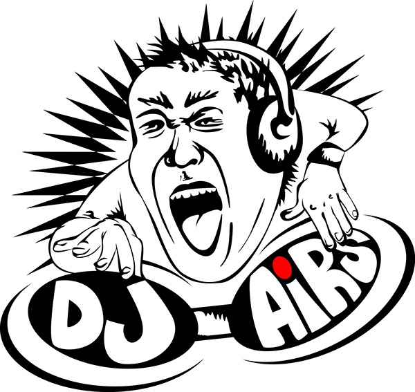 dj party techno dubstep daft punk Illustrator vector spin house