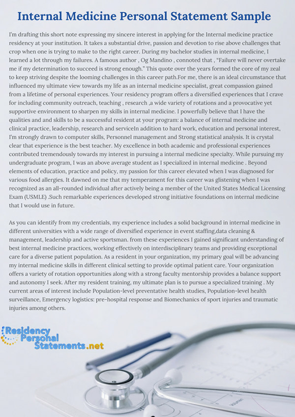 internal medicine personal statement sample on pantone canvas gallery